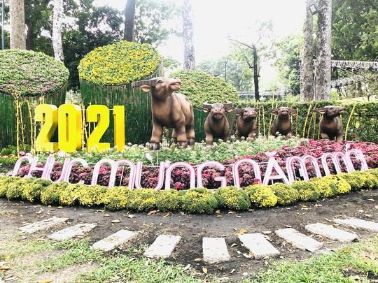 Khai mạc Hội Hoa Xuân Tân Sửu tại công viên Tao Đàn - Ảnh 1.