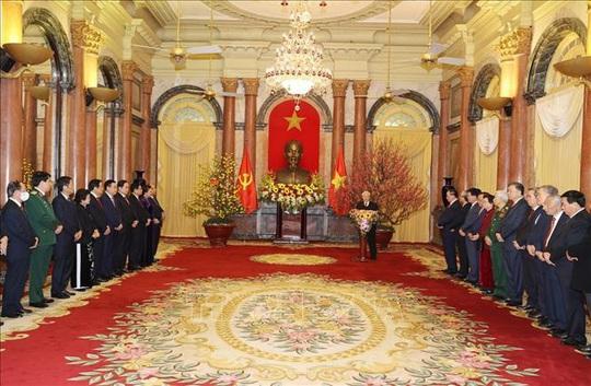 Tổng Bí thư, Chủ tịch nước Nguyễn Phú Trọng chủ trì gặp mặt, chúc Tết - Ảnh 3.