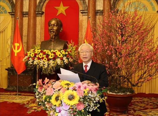 Tổng Bí thư, Chủ tịch nước Nguyễn Phú Trọng chủ trì gặp mặt, chúc Tết - Ảnh 1.