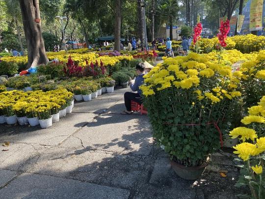 28 Tết, người bán hoa Tết ở TP HCM muốn khóc sau trận mưa bất ngờ - Ảnh 4.