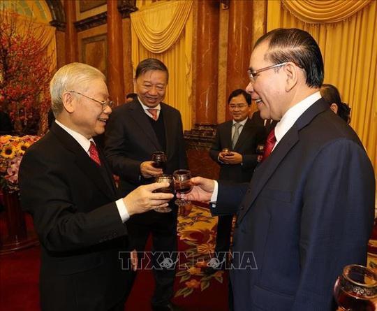 Tổng Bí thư, Chủ tịch nước Nguyễn Phú Trọng chủ trì gặp mặt, chúc Tết - Ảnh 5.
