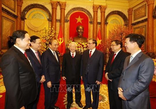 Tổng Bí thư, Chủ tịch nước Nguyễn Phú Trọng chủ trì gặp mặt, chúc Tết - Ảnh 8.