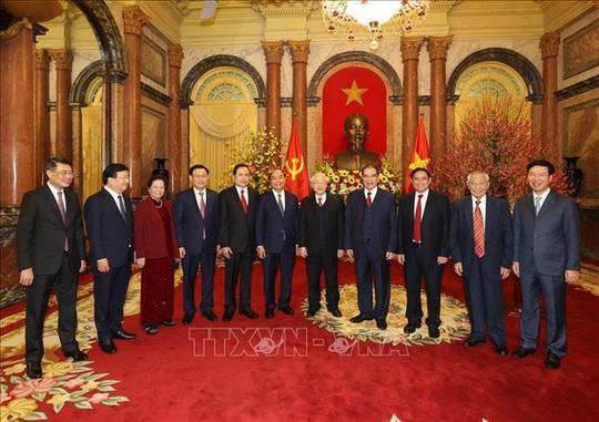 Tổng Bí thư, Chủ tịch nước Nguyễn Phú Trọng chủ trì gặp mặt, chúc Tết - Ảnh 10.