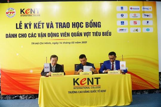 Trường Cao đẳng Quốc tế Kent trao học bổng trị giá hơn 800 triệu đồng cho các VĐV quần vợt - Ảnh 3.