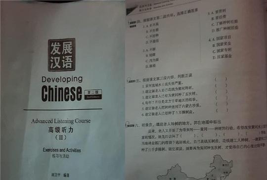 Tiêu hủy giáo trình tiếng Trung in hình đường lưỡi bò - Ảnh 1.