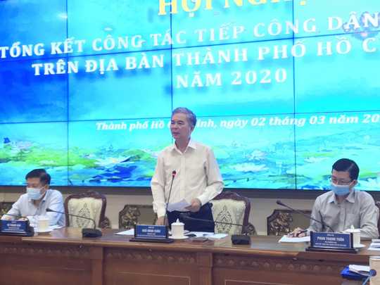 TP HCM cố gắng giải quyết dứt điểm các vụ khiếu nại đông người trong năm 2021 - Ảnh 2.