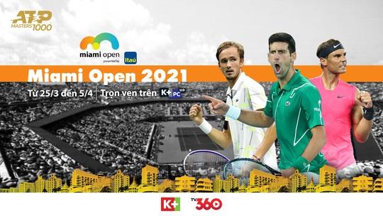 Xem ATP 1000 Miami Open trực tiếp trên ứng dụng di động TV360 - Ảnh 1.
