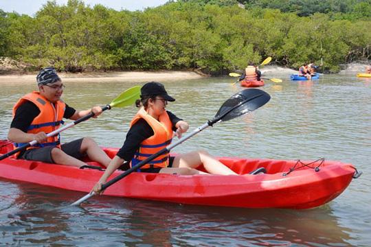 Đi kayak, ngắm rừng ngập mặn đảo Hoa Lan - Ảnh 1.
