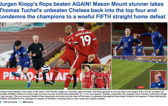 Mason Mount lập siêu phẩm, Liverpool nhận chuỗi thất bại thảm họa - Ảnh 1.