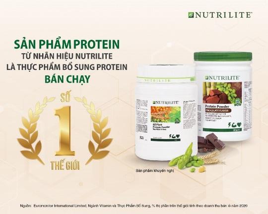 Dòng sản phẩm Nutrilite Protein đạt danh hiệu bán chạy số 1 thế giới - Ảnh 1.