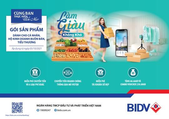 BIDV ra mắt gói sản phẩm toàn diện dành riêng cho khách hàng tiểu thương - Ảnh 1.