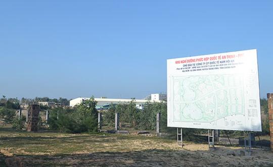 Quảng Nam thu hồi đại dự án khu nghỉ dưỡng An Thịnh 4.300 tỉ đồng - Ảnh 1.