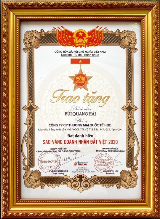 """Bùi Quang Hải - Tổng giám đốc công ty Cổ phần TMQT HBC - """"thách thức tạo nên bứt phá"""" trong kinh doanh - Ảnh 4."""