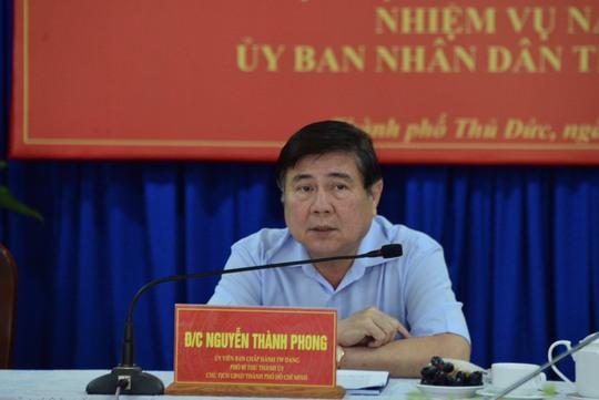 Chủ tịch Nguyễn Thành Phong: TP Thủ Đức phải thu ngân sách vượt quận 1 - Ảnh 1.