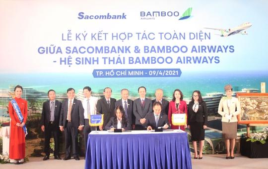 Chủ tịch Sacombank tại Lễ ký hợp tác toàn diện với Bamboo Airways: Hai thương hiệu, triệu giá trị - Ảnh 1.