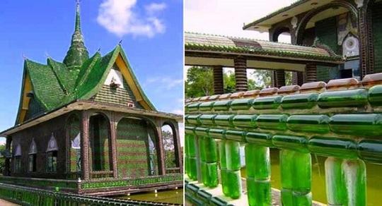 """Ngôi chùa vỏ chai - Kiến trúc """"có một không hai"""" ở Thái Lan - Ảnh 1."""