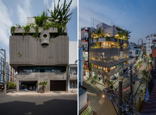 Nhà 6 tầng ngập cây xanh, yên bình giữa không gian phố chợ - Ảnh 1.