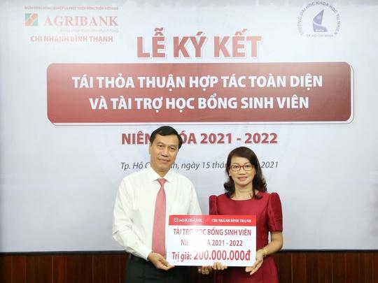 Agribank Chi nhánh Bình Thạnh ký kết thỏa thuận hợp tác với Trường đại học Khoa học Tự nhiên - Ảnh 2.
