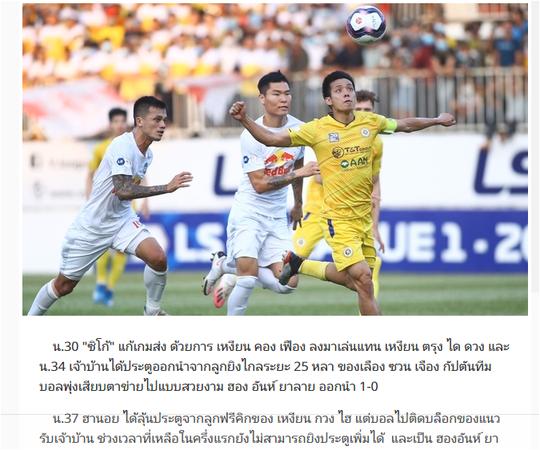 Báo Thái Lan ca ngợi thành tích của HLV Kiatisak và cầu thủ Hoàng Anh Gia Lai - Ảnh 1.
