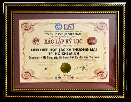 Co.opmart được công nhận là hệ thống siêu thị thuần Việt lâu đời nhất Việt Nam - Ảnh 1.