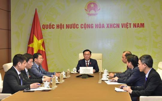 Cuộc điện đàm đầu tiên của Chủ tịch Quốc hội Vương Đình Huệ - Ảnh 2.