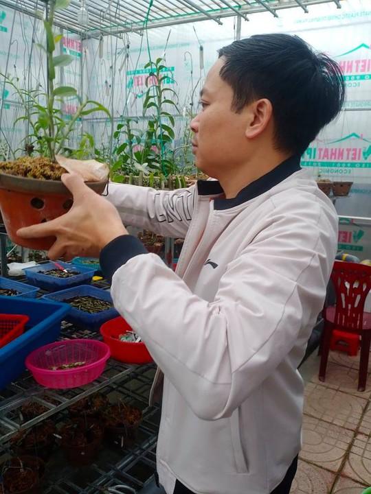 Ông chủ vườn lan 7X Mạnh Hùng chia sẻ kinh nghiệm trồng hoa lan - Ảnh 1.