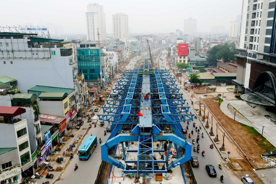 CLIP: Đại công trường đường Vành đai 2 gần 10.000 tỉ đồng đang gấp rút hoàn thành - Ảnh 4.