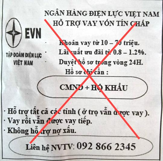 EVN lên tiếng về Ngân hàng Điện lực Việt Nam hỗ trợ vay vốn tín chấp - Ảnh 1.