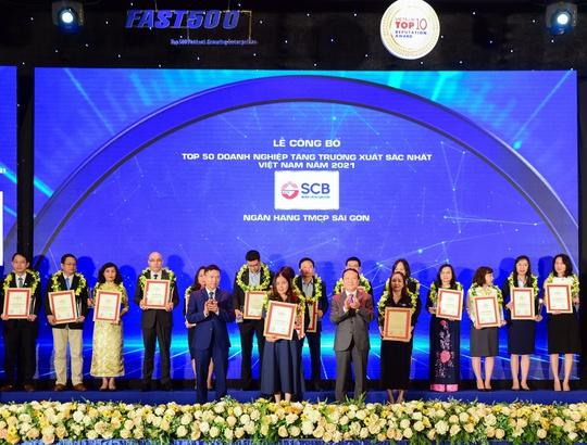 SCB vào top 50 doanh nghiệp tăng trưởng xuất sắc nhất Việt Nam năm 2021 - Ảnh 1.