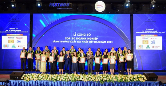 SCB vào top 50 doanh nghiệp tăng trưởng xuất sắc nhất Việt Nam năm 2021 - Ảnh 2.