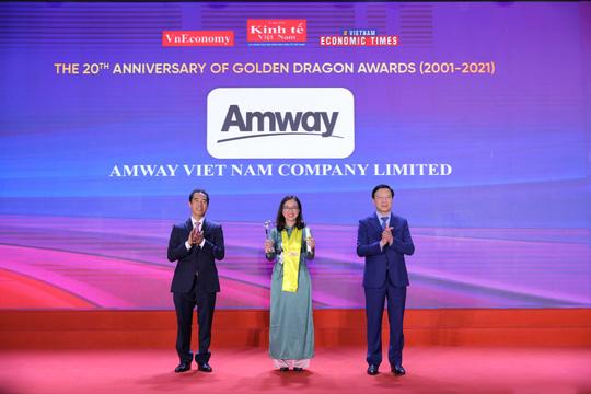 Amway Việt Nam vinh dự nhận Giải thưởng Rồng Vàng 2021 - Ảnh 1.