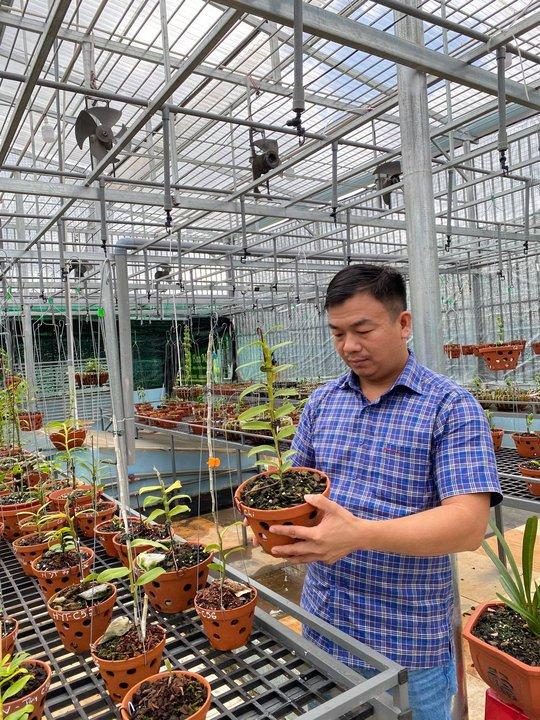 Ông chủ vườn lan Phạm Đình Đô chia sẻ về giá trị lan đột biến - Ảnh 1.