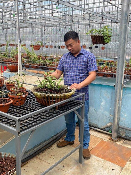 Ông chủ vườn lan Phạm Đình Đô chia sẻ về giá trị lan đột biến - Ảnh 5.