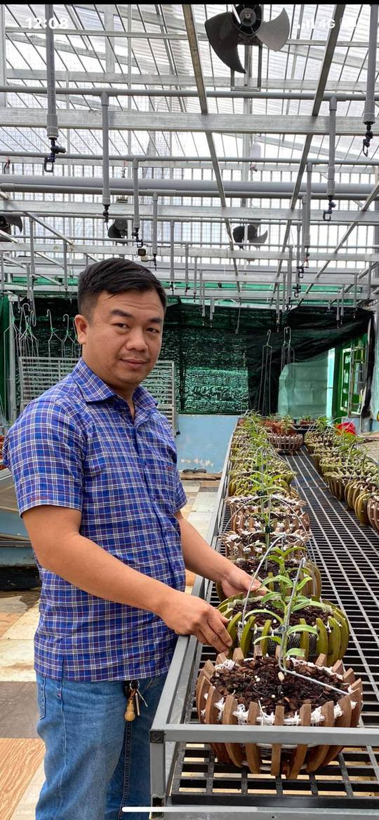 Ông chủ vườn lan Phạm Đình Đô chia sẻ về giá trị lan đột biến - Ảnh 2.