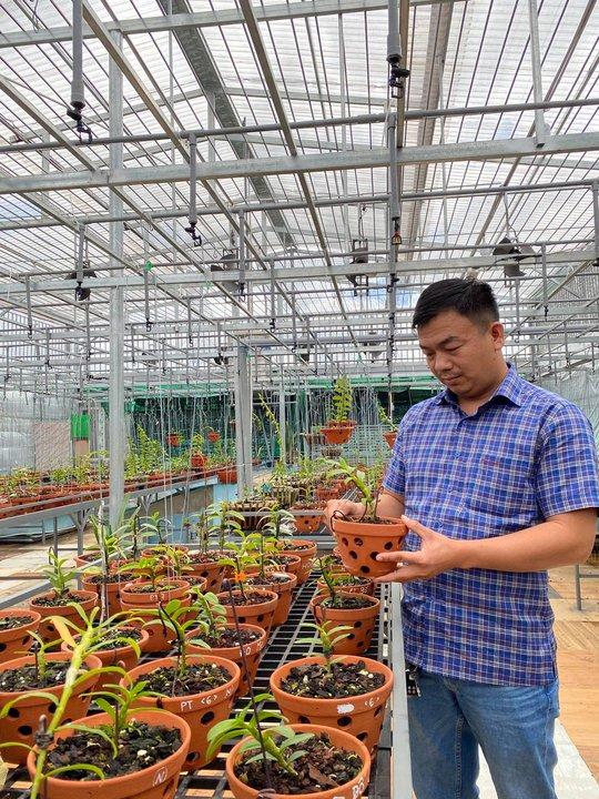Ông chủ vườn lan Phạm Đình Đô chia sẻ về giá trị lan đột biến - Ảnh 4.