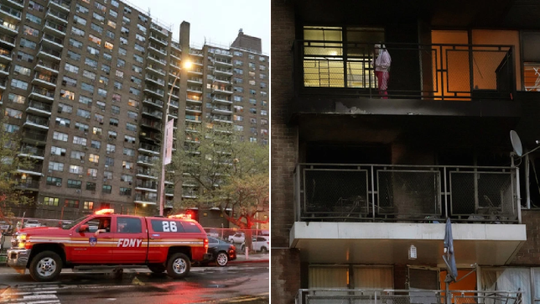 Cháy nhà, kỳ tích xuất hiện khi bé gái 8 tuổi nhảy từ tầng 6 - Ảnh 1.