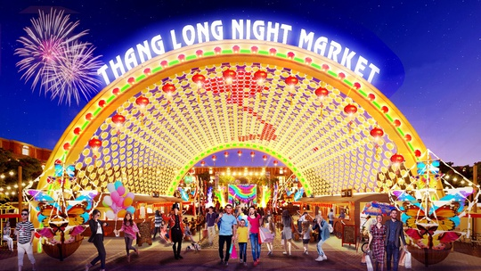 Sức hút của dự án tích hợp chợ đêm, trung tâm thương mại - Ảnh 1.