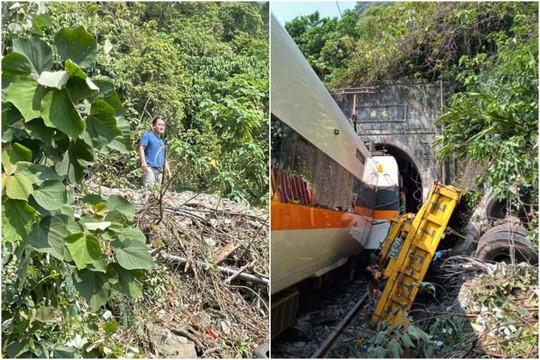 Hình ảnh nghi phạm đứng nhìn tàu tốc hành Đài Loan gặp nạn gây phẫn nộ - Ảnh 1.