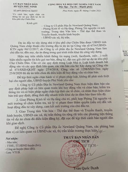 Quảng Nam: Cảnh báo việc huy động vốn trái phép tại Khu phố chợ Chiên Đàn - Ảnh 1.