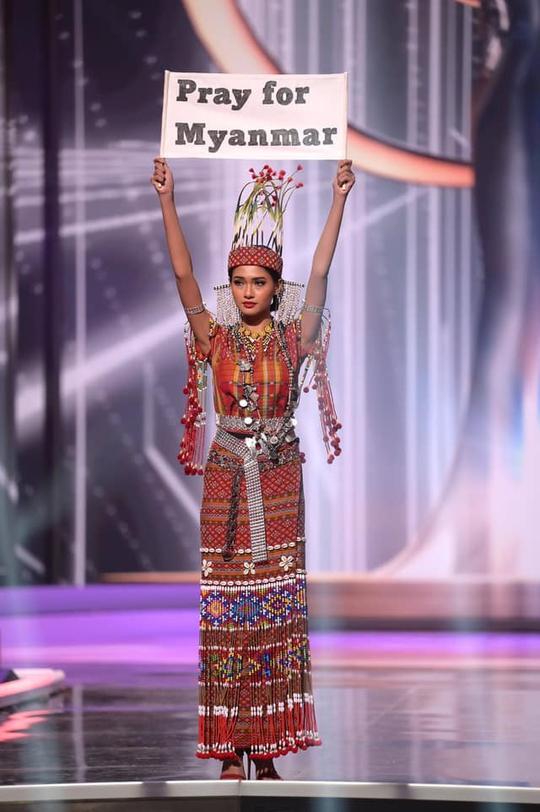 Hoa hậu Myanmar bị truy nã - Ảnh 1.