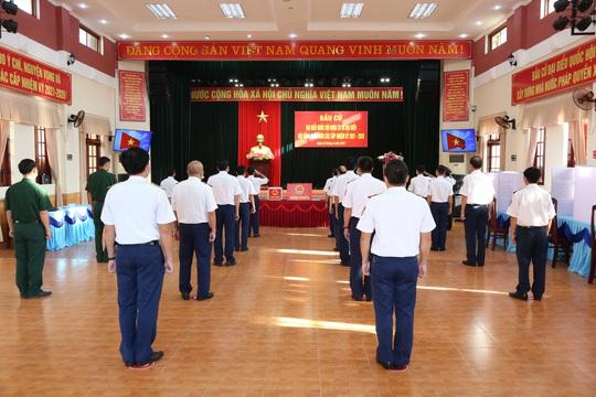 Bộ Tư lệnh Vùng Cảnh sát biển 2 hoàn thành tốt công tác bầu cử - Ảnh 1.