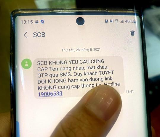 Đến lượt SCB, VIB cảnh báo tin nhắn mạo danh ngân hàng để lừa đảo - Ảnh 1.