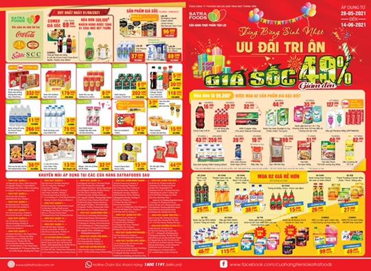 """Hệ thống bán lẻ Satra triển khai chương trình khuyến mại """"Sinh nhật Satrafoods – Mùa hè vẫy gọi"""" - Ảnh 1."""