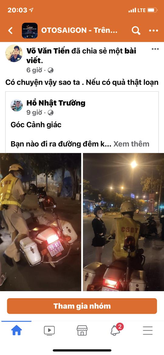 CSGT TP HCM nói gì về vụ người dân tố bị CSGT giả vòi tiền ở Khu công nghiệp Tân Bình? - Ảnh 1.