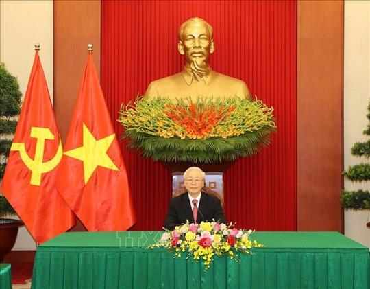 Tổng Bí thư Nguyễn Phú Trọng điện đàm với Bí thư thứ nhất Đảng Cộng sản Cuba - Ảnh 1.