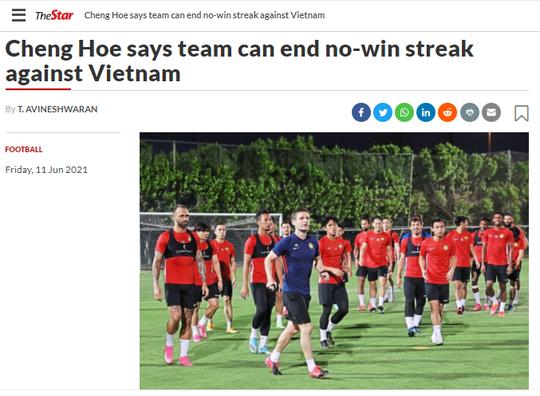 Báo chí thể thao Malaysia viết gì trước trận chạm trán tuyển Việt Nam? - Ảnh 2.