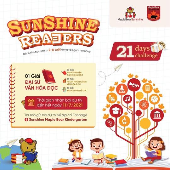 Trải nghiệm 21 ngày đọc thú vị cùng Sunshine Maple Bear qua dự án Sunshine Readers - Ảnh 1.