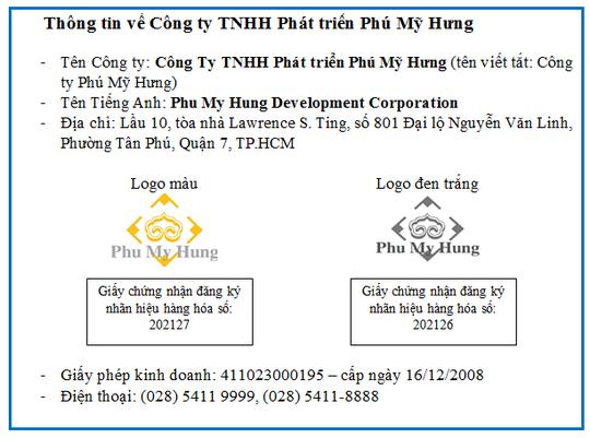 Công ty TNHH Phát triển Phú Mỹ Hưng không liên quan đến Phú Mỹ Hưng Homes - Ảnh 1.