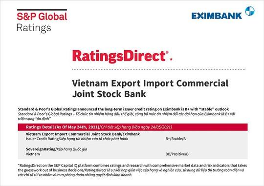S&P Global Ratings giữ nguyên mức tín nhiệm đối tác dài hạn của Eximbank - Ảnh 1.