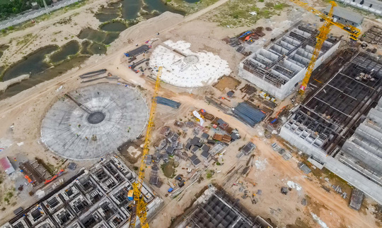 CLIP: Toàn cảnh dự án nhà máy nước mặt sông Hồng 3.700 tỉ đồng chậm tiến độ - Ảnh 6.